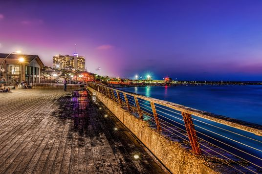 Tel Aviv port, illuminated with HDR